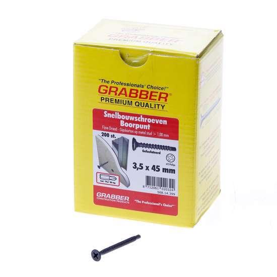 Afbeelding van Grabber snelbouwschroef 3.5x 45 boorpunt