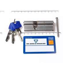 Afbeeldingen van Cilinder dubbel 50/30 (bui./bin.) voorzien van SKG ***,  met certificaat en 3 sleutels