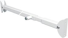 Afbeeldingen van Secu Schuifpuibeiliging plus staal geepoxeerd wit 89-128cm SKG** 2010.370.04