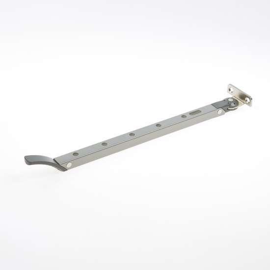 Afbeelding van Axa Raamuitzetter Habilis lengte 355mm buitendraaiend grijs voor draairaam smal kozijnhout 2635-31-49