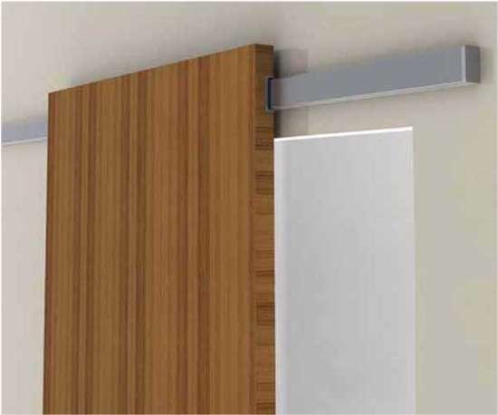 Afbeelding van Schuifdeursysteem: Muur/afdekprofiel Linea 18mm 2000mm F1  (exclusief schuifdeurgarnituur)