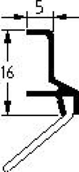 Afbeelding van Luvema Dorpelstrip acrylaatbestendig ads 6602.AR 100cm