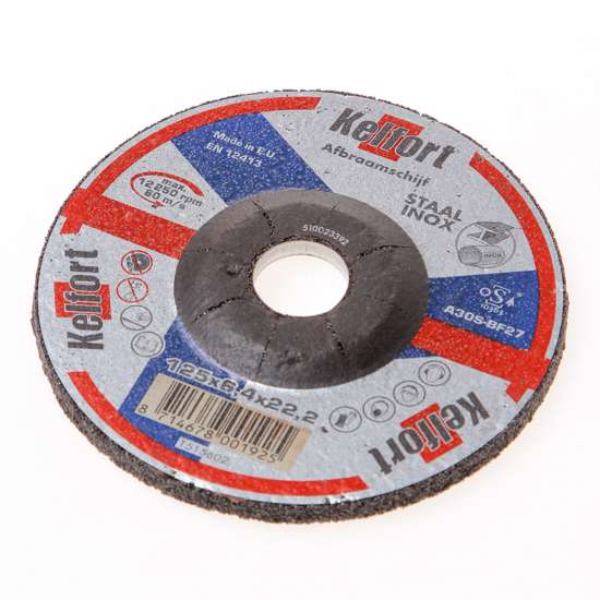 Afbeelding van Afbraamschijf voor staal en RVS 125 x 6 x 22.2mm