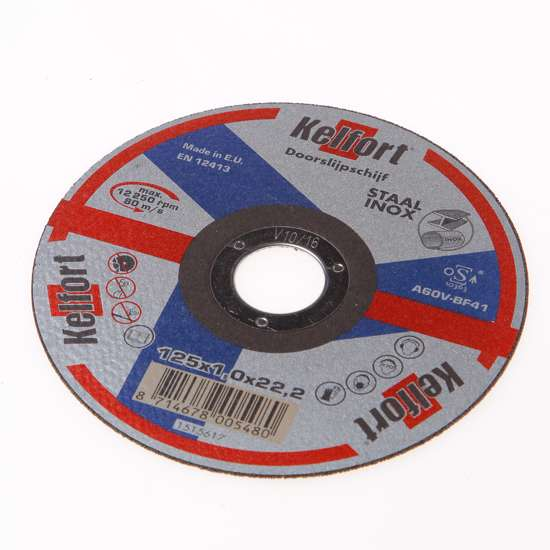 Afbeelding van Doorslijpschijf voor staal/RVS/inox vlak 125 x 1 x 222mm