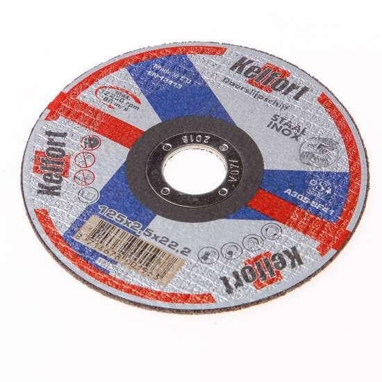 Afbeelding van Doorslijpschijf voor staal/RVS/inox vlak 125 x 25 x 222mm