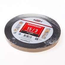 Afbeeldingen van Afdichtingsband zwart op rol van  10 meter, afmeting  15mm, voor voegbreedte 3mm