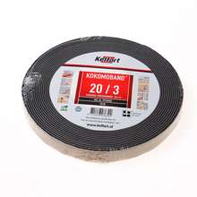Afbeeldingen van Afdichtingsband zwart op rol van  10 meter, afmeting 20mm, voor voegbreedte 3mm
