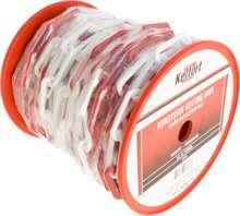 Afbeeldingen van Kunststof ketting rood wit 6mm