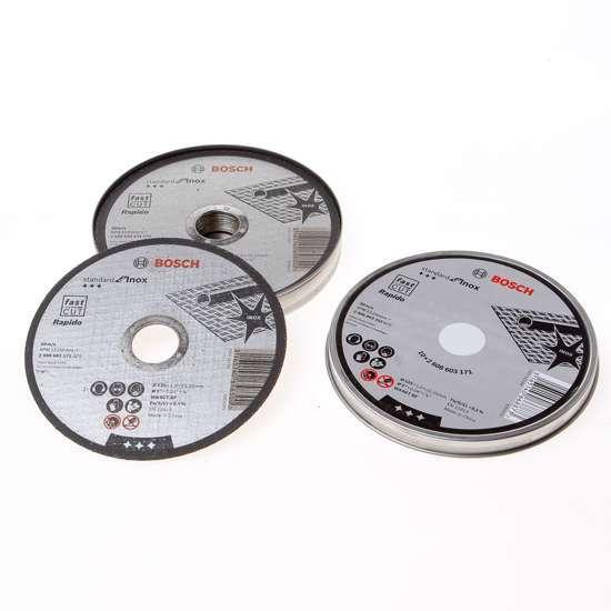 Afbeelding van Bosch Doorslijpschijf inox 125 x 1mm set van 10 schijven