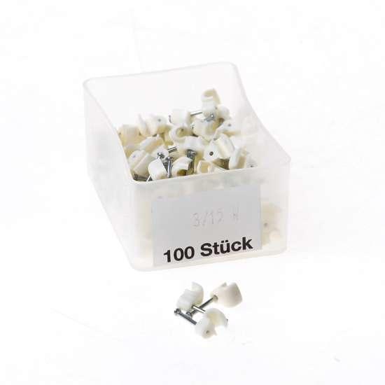 Afbeelding van Kabelbeugels wit 3mm 3/15W