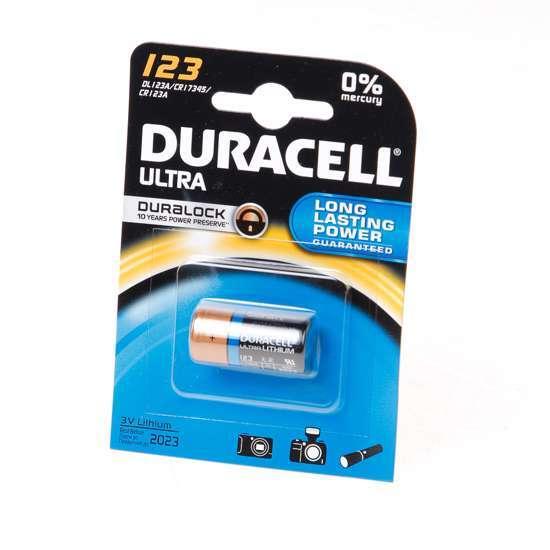 Afbeelding van Duracell Batterij cr123a 3v