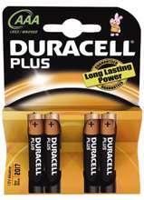 Afbeeldingen van Duracell Batterij potlood 1.5v lr03 aaa blister van 4 batterijen