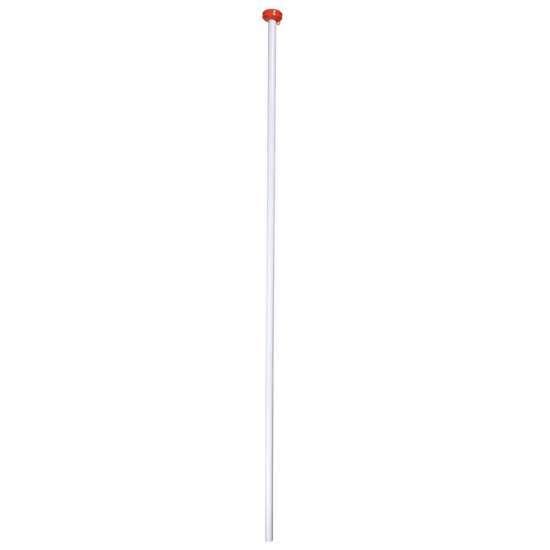 Afbeelding van Vlaggenstok wit met knop 200 x 3cm