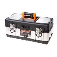 Afbeeldingen van Fixman gereedschapskoffer leeg, met inlegbakje, materiaal metaal/kunststof 400x190x180mm (lxdxh)