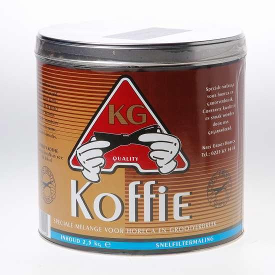 Afbeelding van Koffie kgh snelfilter blik 2500 gram