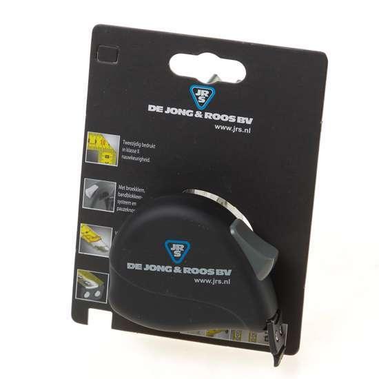 Afbeelding van Rolbandmaat 3m x 16mm, voorzien van rubberen haak met magneten, CE II nauwkeurigheid, lint voorzien van nylon deklaag voor perfecte bescherming