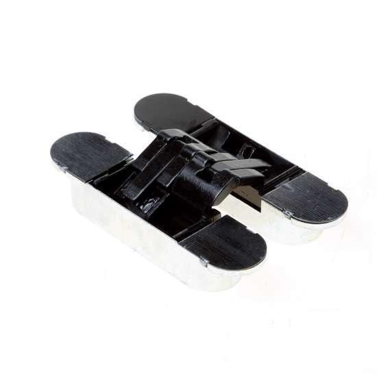 Afbeelding van Onzichtbaar, 3D verstelbaar scharnier130x30,3D,zwart 30min.