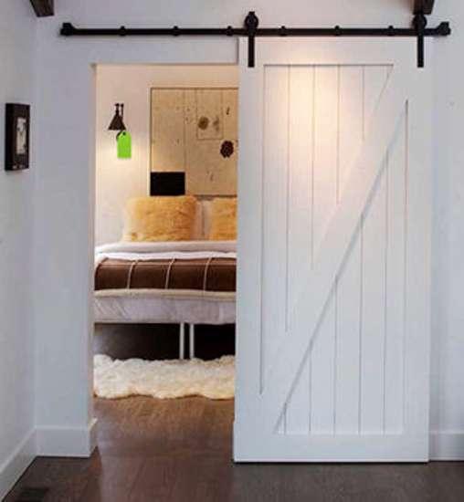 Afbeelding van Complete schuifdeurset 2 meter zwart mat voor max deurgewicht 80kg - mooi robuust en toch stijlvol