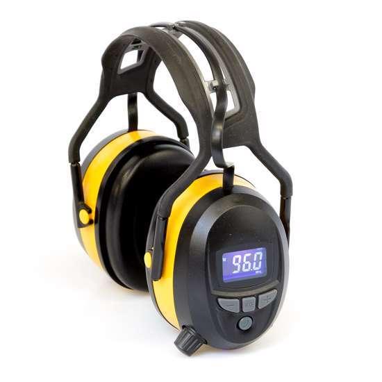 Afbeelding van Gehoorbeschermer met digitale radio, Bluetooth en ingebouwde MP3. In de kleur geel.