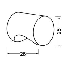 Afbeeldingen van Cilinderknop 25x26mm m4 zwart 3732-70