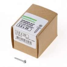 Afbeeldingen van QZ Spaanplaatschroef cilinderkop verzinkt pozidriv 3.0x20mm (per 200 stuks)