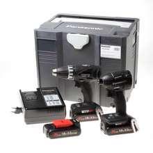 Afbeeldingen van Combiset EY7451 + EY75A7 3x 18V 3,0Ah accu met lader in een Tanos Systainer