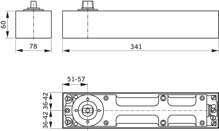 Afbeeldingen van Dorma Hydraulische Vloerveer normaal met steekas BTS 80 EN4
