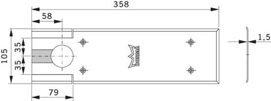 Afbeelding van Dorma Afdekplaat voor vloerveer BTS 80 7410