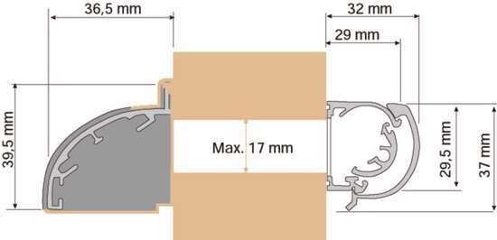 Afbeelding van Tilmar bi.rooster SM1400 rotary 700mm wit