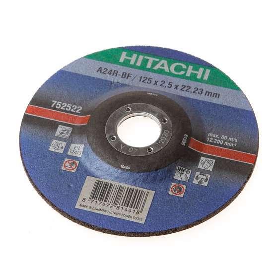 Afbeelding van Hitachi Doorslijpschijf kom voor metaal 125 x 2.5mm