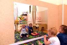 Afbeeldingen van Spiegel child safe mirror 60x50cm