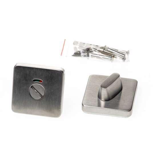 Afbeelding van Wc-rozet vierkant roestvaststaal voor deurdikte 37-42mm