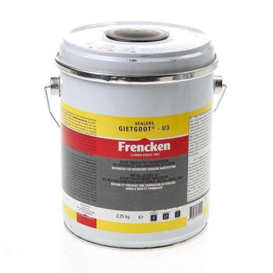 Afbeelding van Frencken Gietgoot u-3 zink zelfuitvloeiend 2.25kg