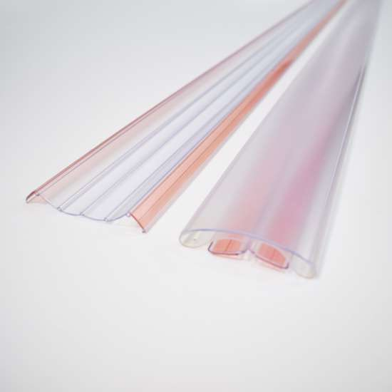 Afbeelding van Finger Alert 110° transparant, lengte 180cm, set bestaande uit 1 breed en 1 smal profiel
