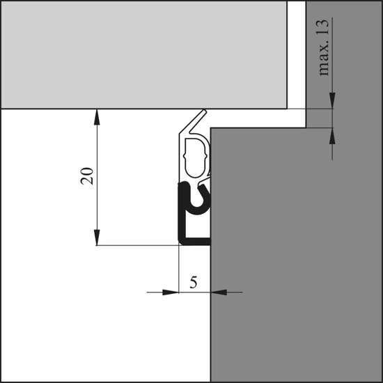 Afbeelding van Tochtprofiel alu.opbouw elro-xl wit 230cm