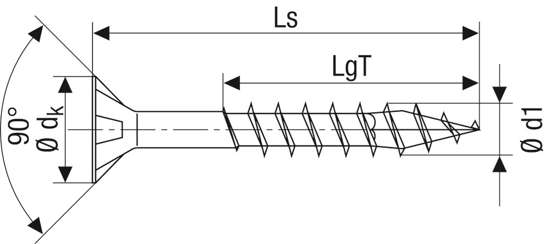 Afbeelding van Spax Spaanplaatschroef platverzonken kop verzinkt T-Star T20 deeldraad 5.0x120mm (per 200 stuks)