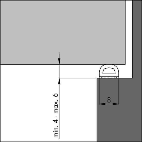 Afbeelding van Tochtprofiel D-prof 6mm zwart 7.5m